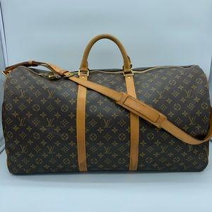 Authentic Louis Vuitton monogram Keepall Bandoliere 60